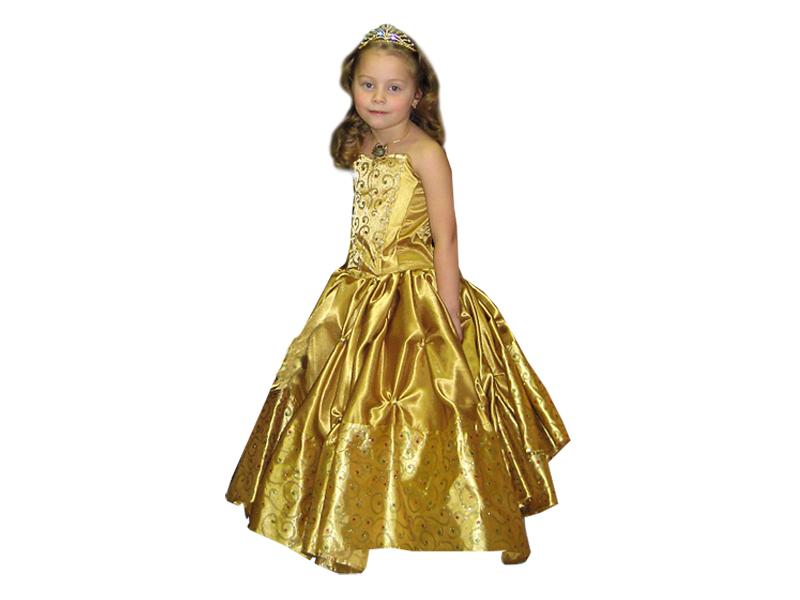 Карнавальный костюм Принцессы в Золотом