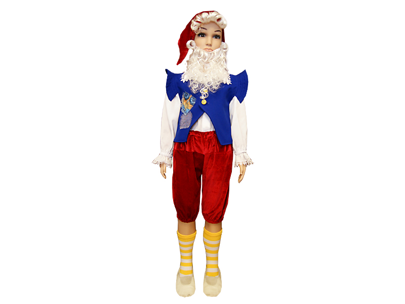 Новогодний костюм гномика для мальчиков своими руками