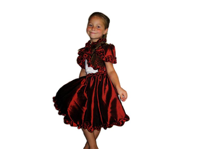 Нарядное платье Бордо