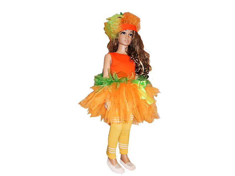 Костюм тыквы для девочки на праздник Осени и Хэллоуин